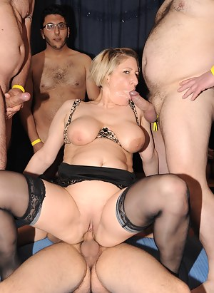 MILF Gangbang Porn Pictures